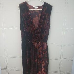 Young Broke & Fabulous | Velvet Maxi Dress